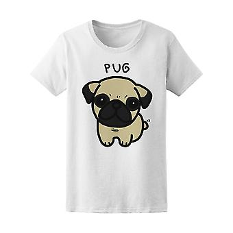 Pug Dog Doodle Tee Women's -Image by Shutterstock