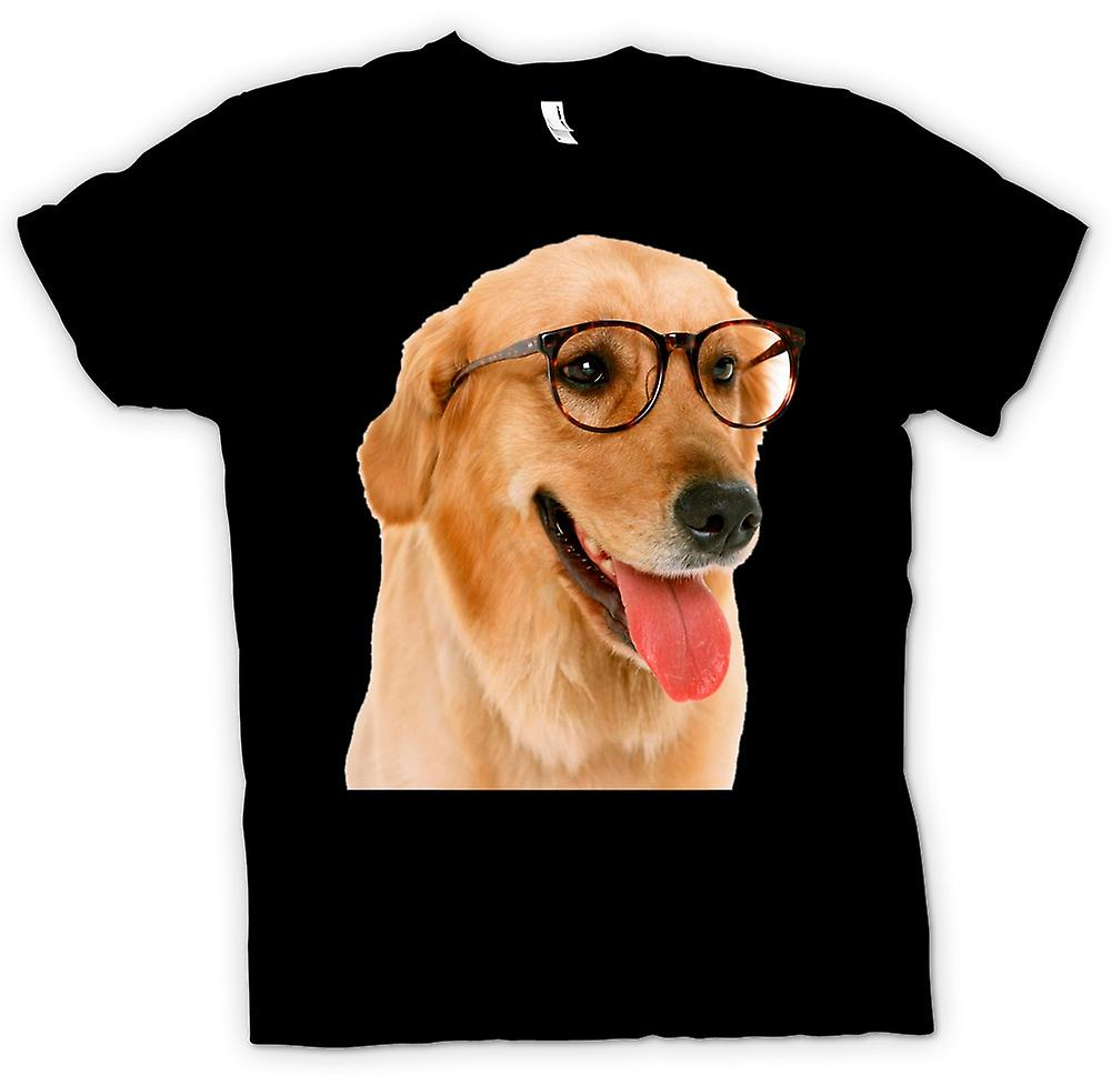 Womens T-shirt - Labrador With Glasses - Funny