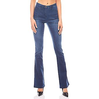Used look jeans women's shock Pant blue vivance collection