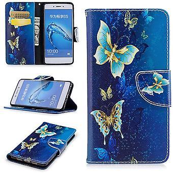 Tasche Wallet Motiv 23 für Huawei Honor 6C / Enjoy 6S Hülle Case Etui Cover Schutz Cover