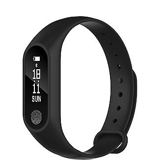 M2 Fitness bracelet with heart rate monitor-Black