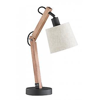 Trio belysning Janko Vintage brun naturlig trä bordlampa