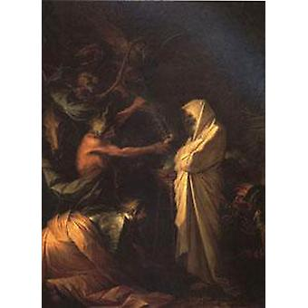 The Spirit of Samuel Called up before Saul, Salvator Rosa, 50x40