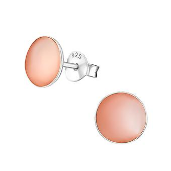 Round - 925 Sterling Silver Plain Ear Studs