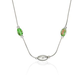 Orphelia Silver 925  Necklace 45 Cm Glass Stones  ZK-2611