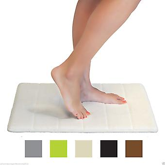 New Luxury Memory Foam Stripe Bathroom Shower Bath Mat With Non Slip Backing