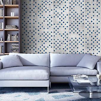Behang - Dots op beton
