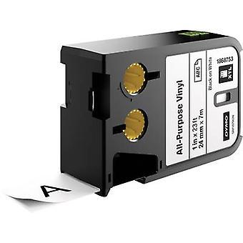Labelling tape (multi-purpose vinyl) DYMO 1868753 XTL Tape colour: White Font colour:Black 24 mm 7 m