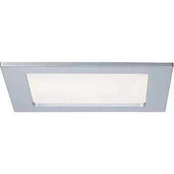 LED bathroom recessed light 12 W Warm white Paulmann 92080 Chrome