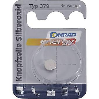 Button cell SR63, SR521 Silver oxide Conrad energy SR63