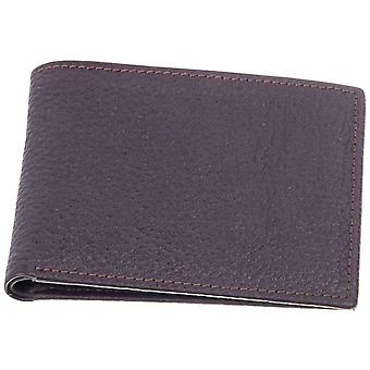 David Van Hagen Plain Leather Wallet - Brown