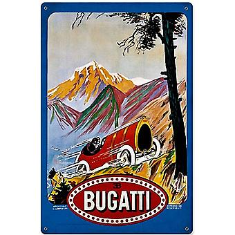 Bugatti Steel Sign 460Mm X 300Mm 460Mm X 300Mm