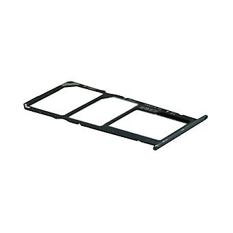 For Huawei Y6 2018 cards Halter SIM tray slide holder black replacement new