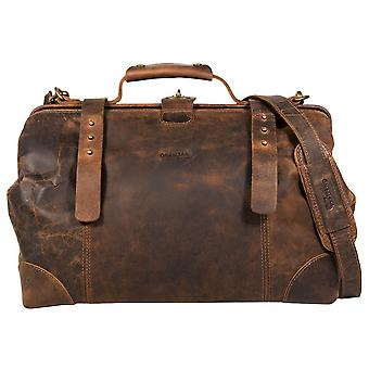 Groenland nature classique buffle cuir sac doc Brown 2509-25
