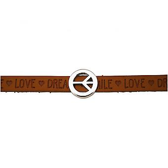 Damen - Armband - Frieden - Peace - WISHES - Braun - Magnetverschluss