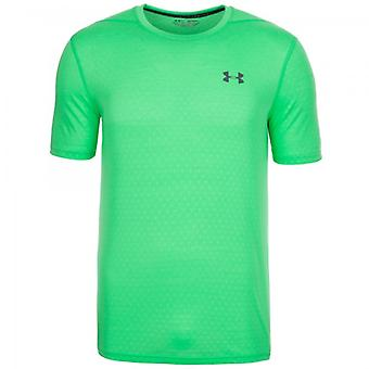 Under Armour męski T-Shirt Threadborne tłoczone zielony 1289589-299