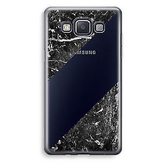 Caja transparente Samsung Galaxy A3 (2015) (Soft) - mármol negro