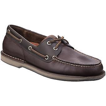 Barco de zapatos Rockport hombres Perth cuero clásico encaje