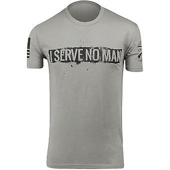 Grunt Style Serve No Man Crewneck T-Shirt - Gray