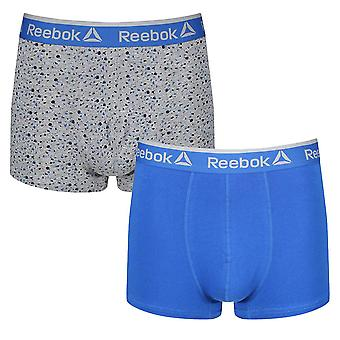 Reebok Gym Men's 2 Pack Sports Boxer Underwear Trunks Print Plain Reece
