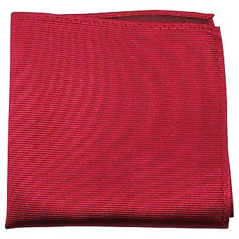 Cravatte di Knightsbridge a costine fazzoletto di seta - rosso cremisi