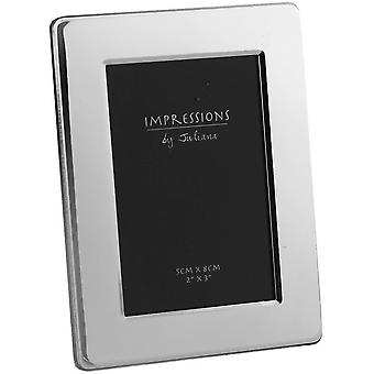 Juliana Impressions Silver Plated Flat Edge Photo Frame 2x3 - Silver