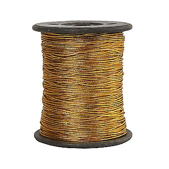 100m Gold Thread Cord for Hanging Crafts (0.5mm Wide)