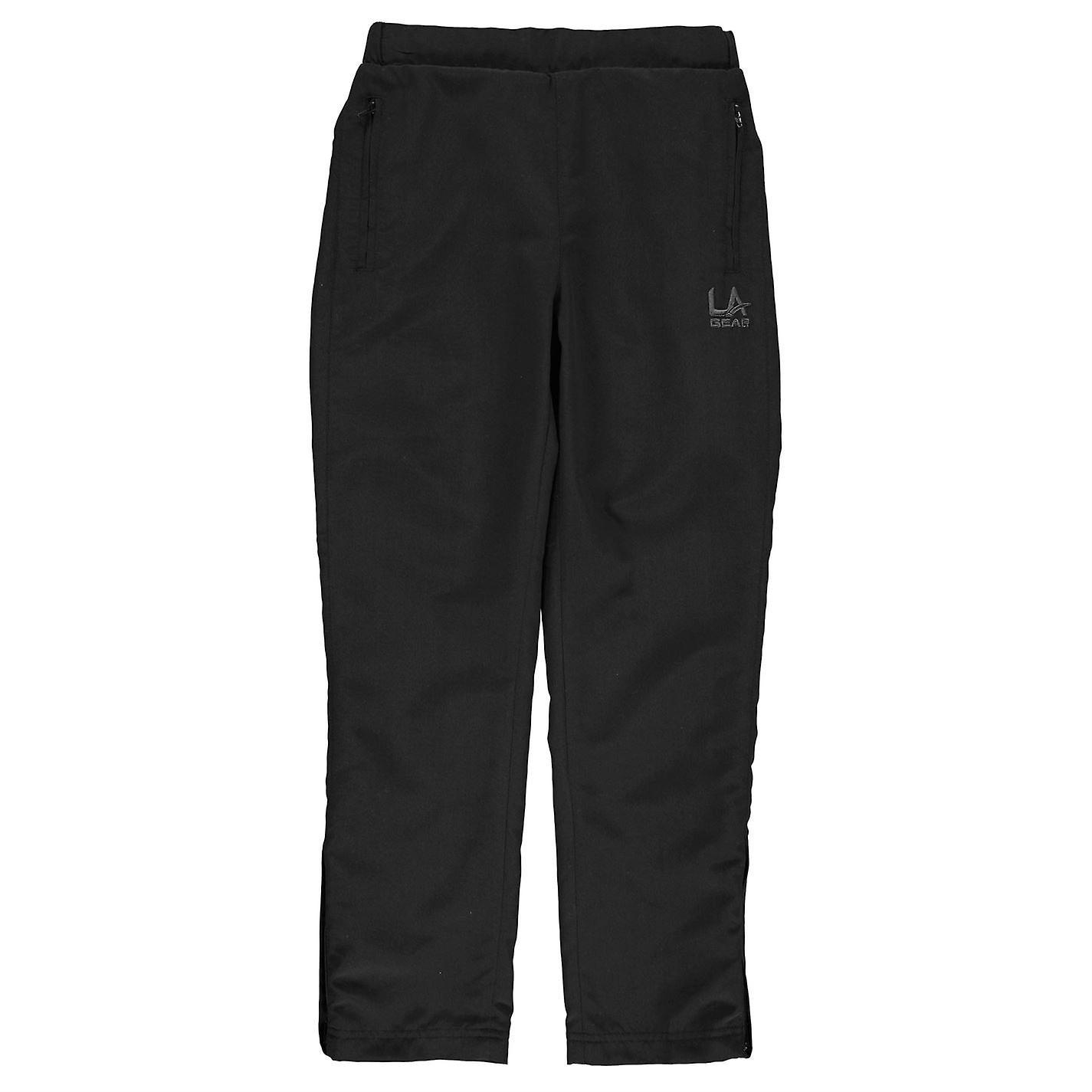 LA Gear Kids Girls Open Hem Woven Pants Trousers Bottoms Elasticated Waist