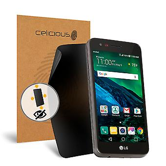 Celicious Privacy oltre 4 vie Anti-Spy Screen Protector Film compatibile con LG Fortune del filtro
