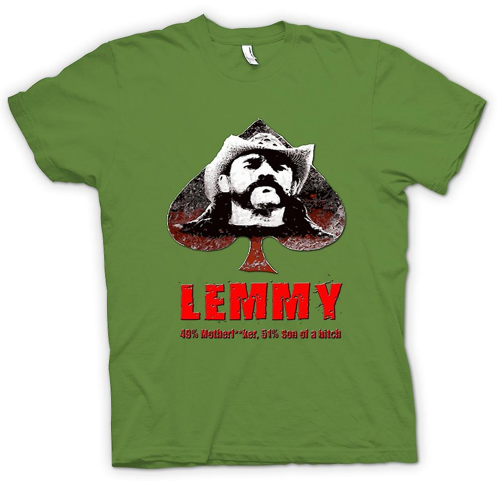 Mens T-shirt - Lemmy - Motorhead - 49% Mother**