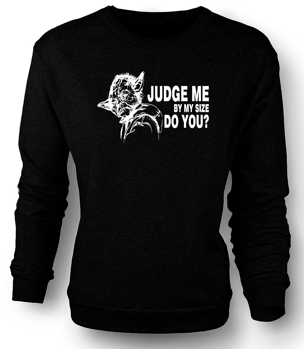 Mens Sweatshirt  Yoda Judge Me - Star Wars - Funny