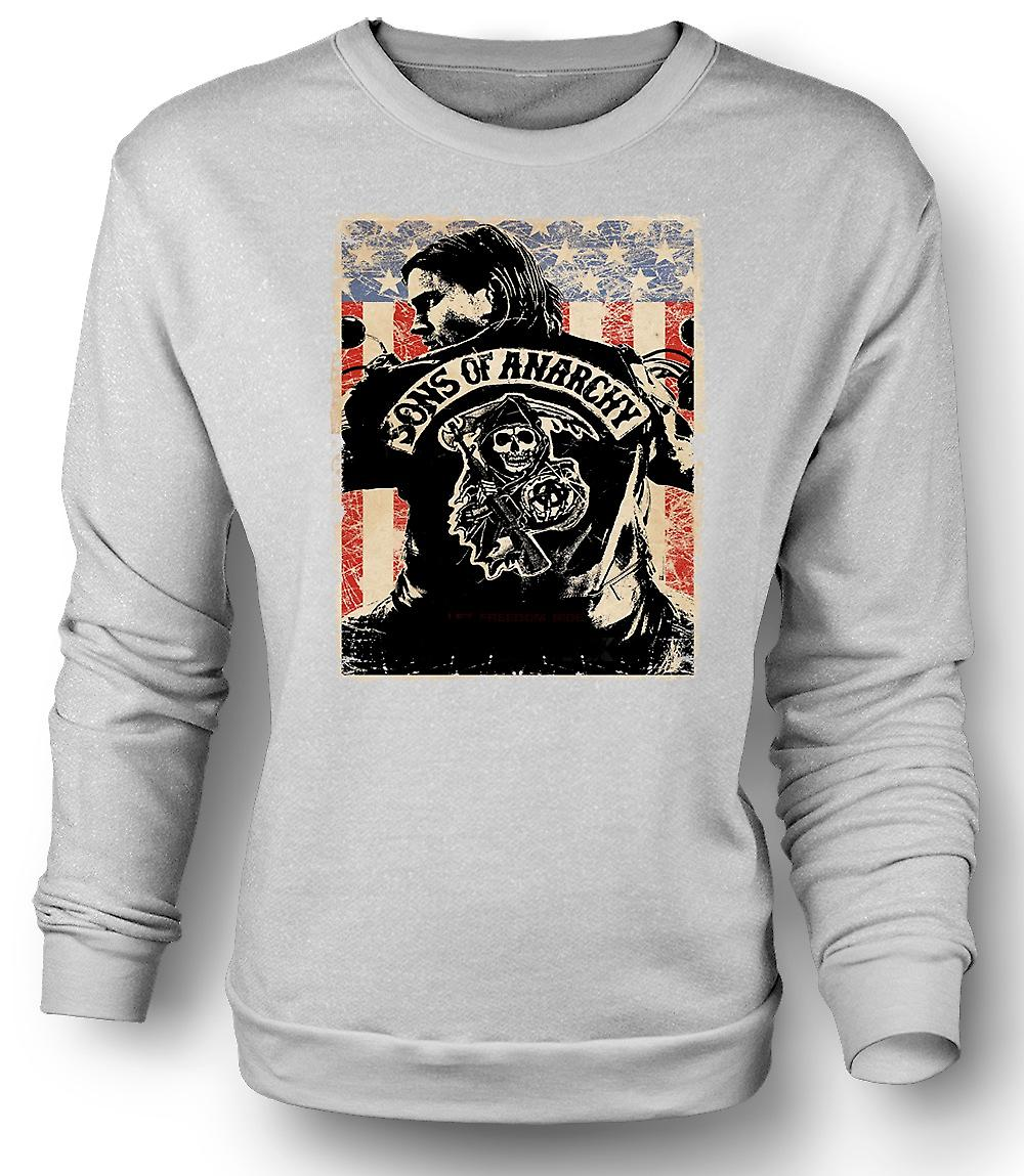 Mens Sweatshirt Sons Of Anarchy - Biker-Gang - TV Poster