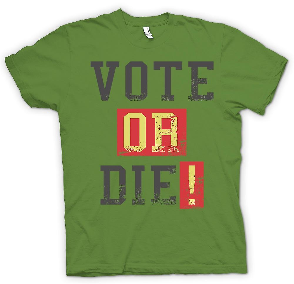 Mens T-shirt - Vote Or Die - Funny South Park inspiré