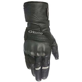 Alpinestars Black Patron Gore-Tex With Gore Grip Motorcycle Leather Gloves