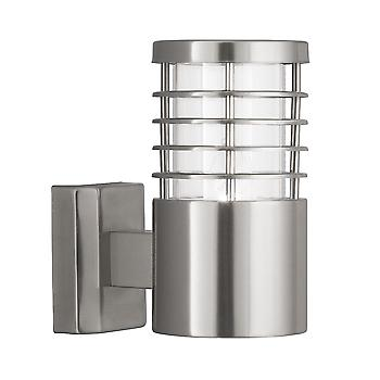 Searchlight 1555SS Satin Silver Outdoor Wall Light