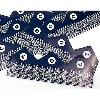 Blue Moroccan Adjustable Paper Hats for Crackers - 10 or 25 Pack
