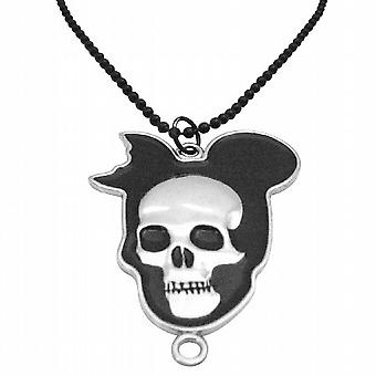 Halloween Skull hip-hop Black lenket halskjede 30 Inches lang kjede