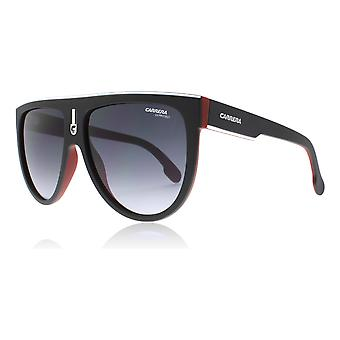 Carrera Flagtop BLX9O Black / Red Flagtop Square Pilot Sunglasses Lens Category 3 Size 60mm