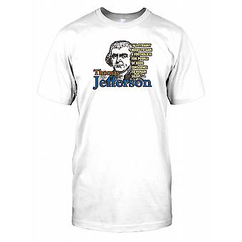 Thomas Jefferson - All Tyranny Needs... - Famous Quote Mens T Shirt