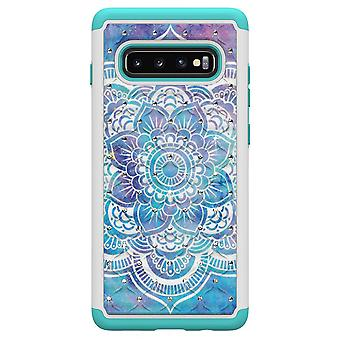 S10 de Samsung Galaxy + TPU Shell armadura Extra Durable-Mandala flor