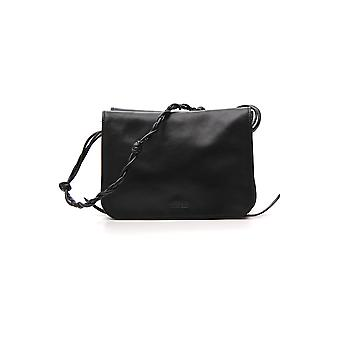 Jil Sander Black Leather Shoulder Bag