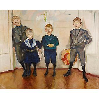Four Children, Edvard Munch, 50x40cm