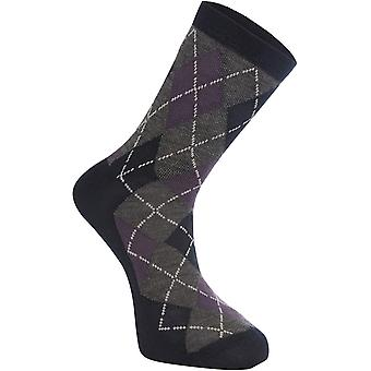 Madison Argyle-Ink Navy Assynt Merino Mid MTB Socks