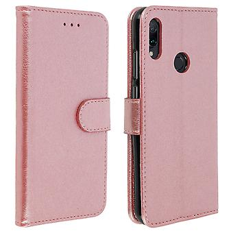 Flip wallet case, magnetic cover with stand for Xiaomi Redmi Note 7 - Rose gold