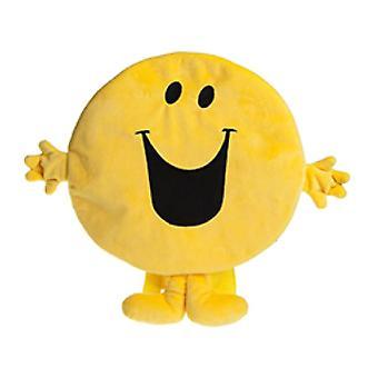 Mr. Men Mr feliz mochila de personaje de felpa