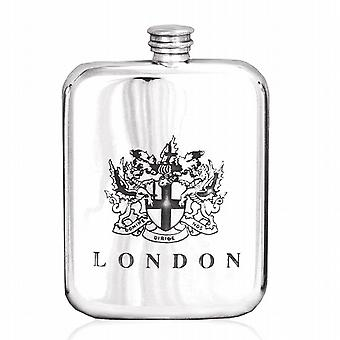 London Pewter Hip Flask 6Oz