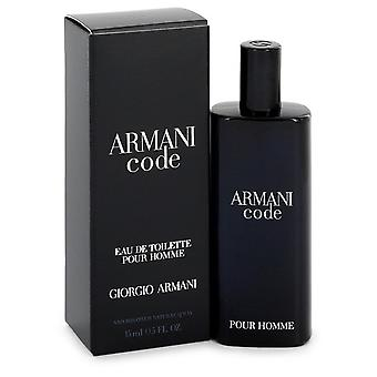 Armani Code by Giorgio Armani Eau De Toilette Spray 0.5 oz / 15 ml (Men)