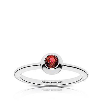 Carolina Hurricanes Carolina Hurricanes gegraveerd ruby ring