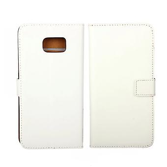Wallet Pouch Galaxy S6 Edge PLUS Genuine Leather, white