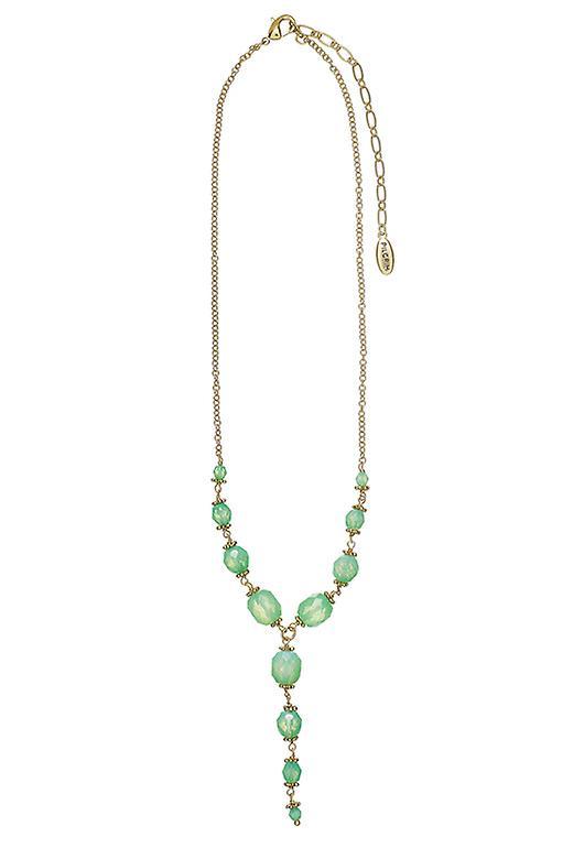Pelgrim Damenkette: medaillon mint/goud (502441)